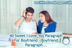 Paragraph For Boyfriend