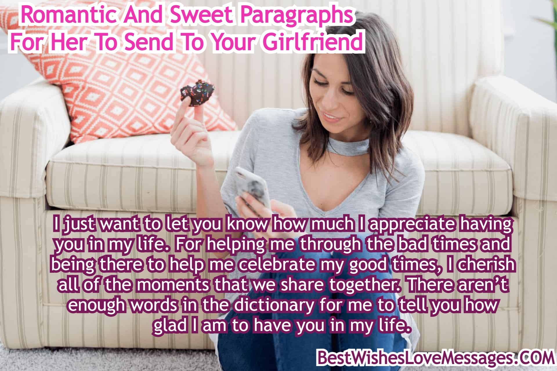 Paragraphs girlfriend send your long to sweet to 2021 Cute