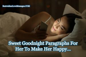 Goodnight Paragraphs For Her