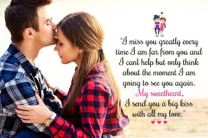 Romantic love messages for him