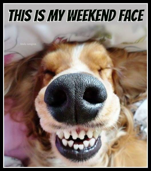 Happy Friday funny weekend face