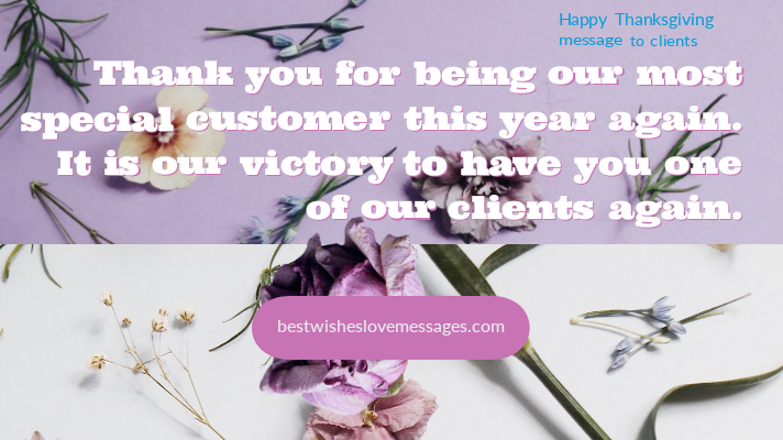 Happy Thanksgiving message to clients