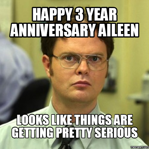 Happy work anniversary meme