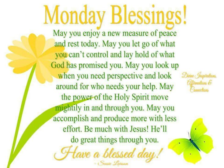 positive monday blessings quotes