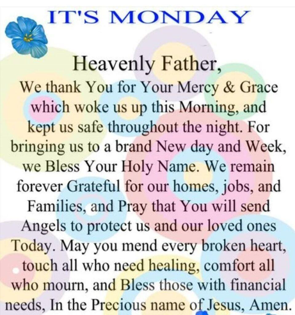 prayer good morning monday blessings