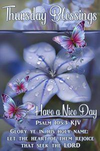 Thursday Blessings bible verse