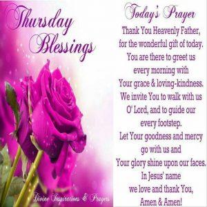 Thursday Blessings and Prayers