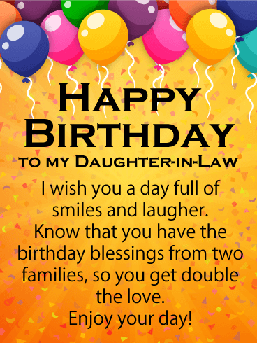 happy birthday daughter in law