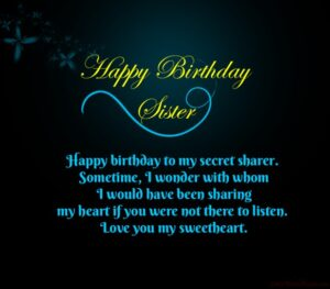 Heart Touching Birthday Greetings For Sister