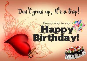 Short Birthday Funny Wishes