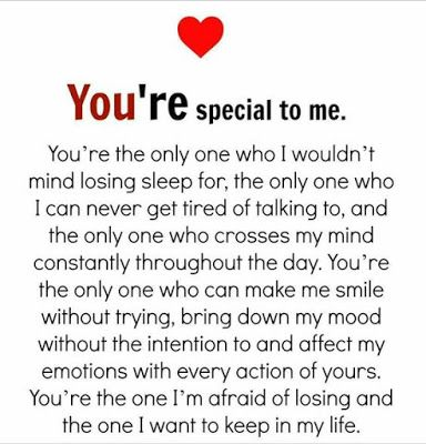 you are so special to me