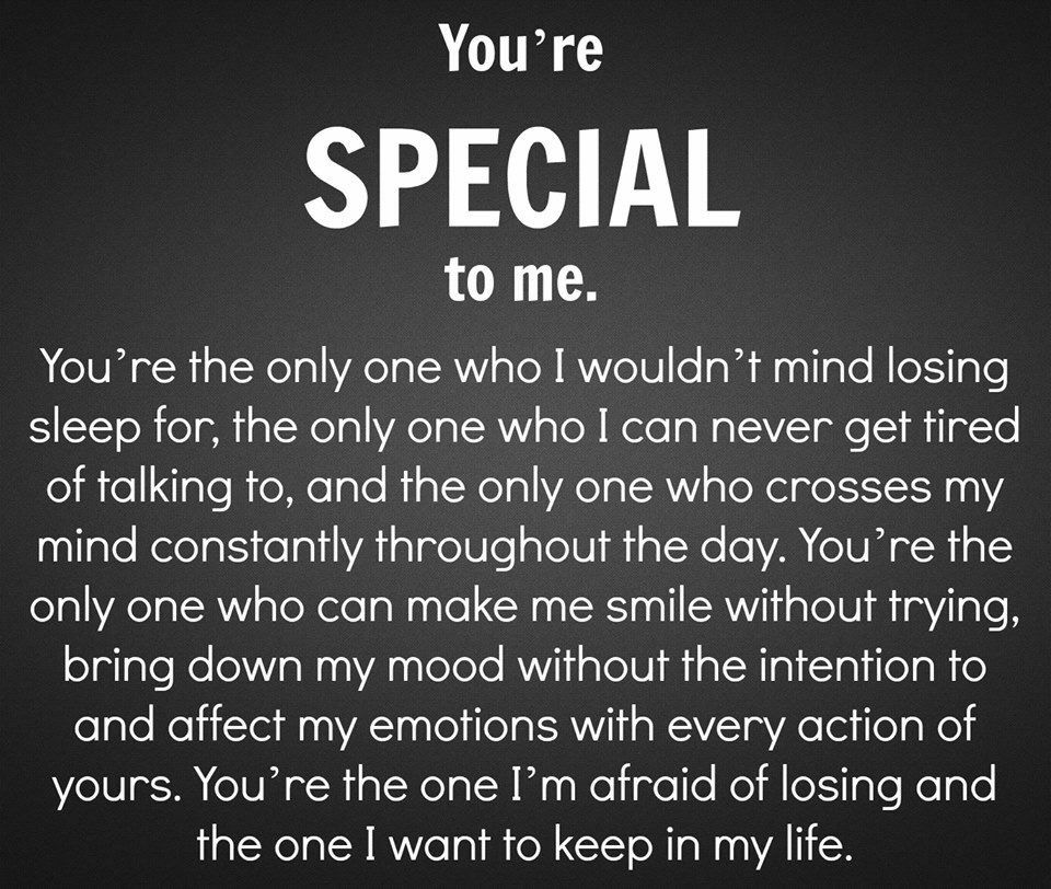 You Are Special To Me Quotes For Him